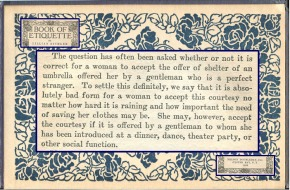 advice from a 1922 etiquette book