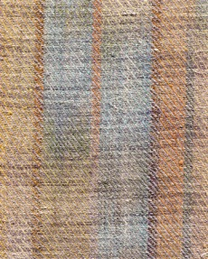 Warp-painted twill, natural dyes