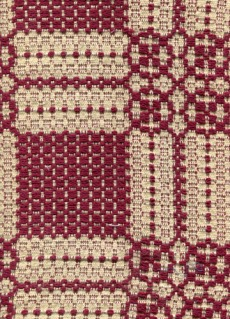 Overshot towel - red