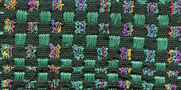 Supplementary warp - ribbon and boucle
