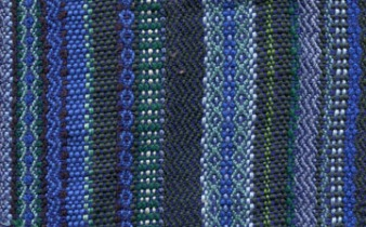 Twill and basketweave stripes - blue
