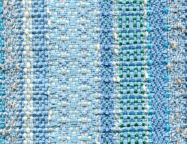 Twill and basketweave stripes - pale blue