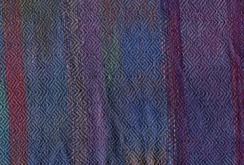 Warp-painted plaited twill - blue