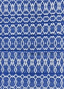 8-shaft supplementary weft - blue and white
