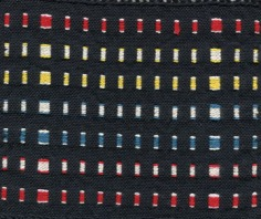 Supplementary weft bands - reverse