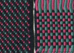 Supplementary warp Christmas fabric