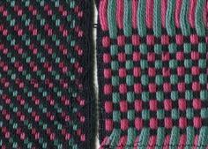 Supplementary warp Christmas fabric