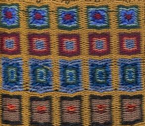 8-shaft multicolor boundweave