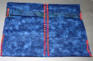 Final stitching lines