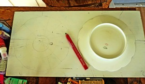 Tracing a plate