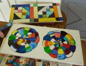 Painted Quilt Blocks