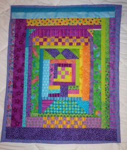 bright colors baby quilt