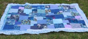 blue squares quilt top