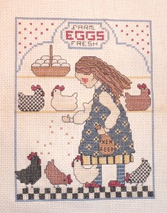 chicken cross-stitch