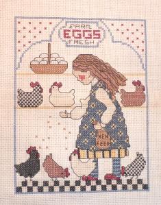 chicken cross-stitch
