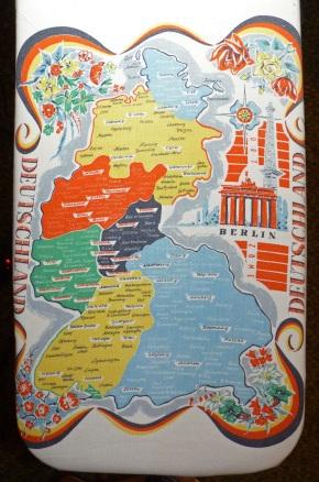 West German tablecloth detail