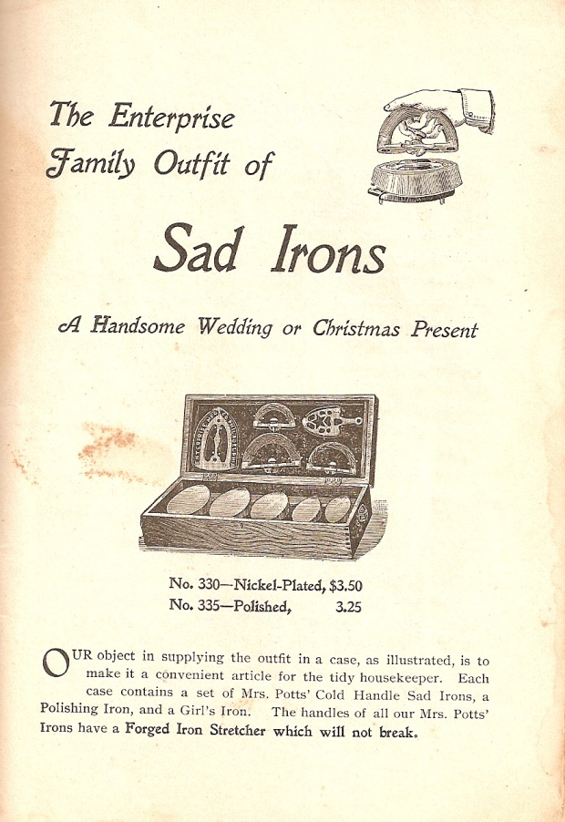 1898 sad irons ad