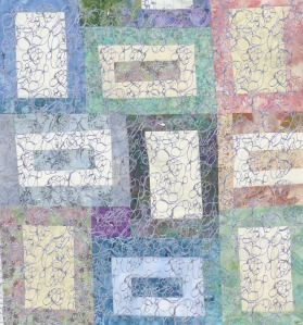 quilt blocks with pebble overlay