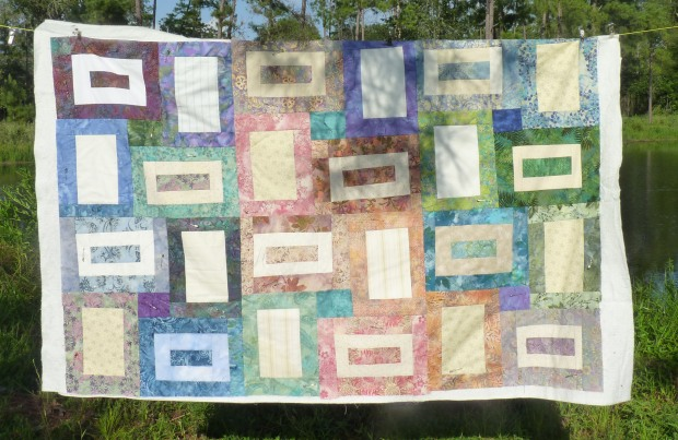 sea glass quilt half