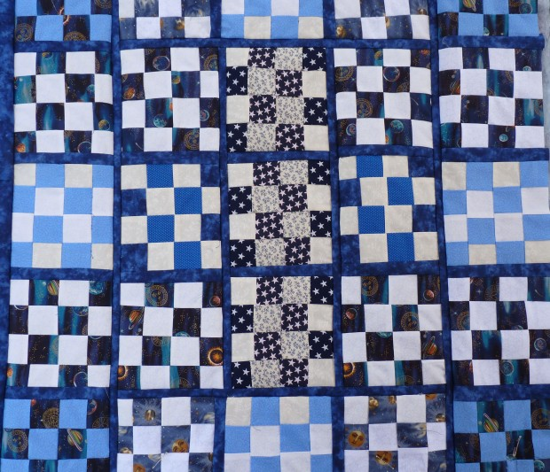 16-patch lap quilt