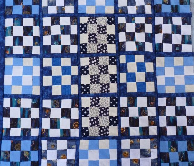 16-patch lap quilt