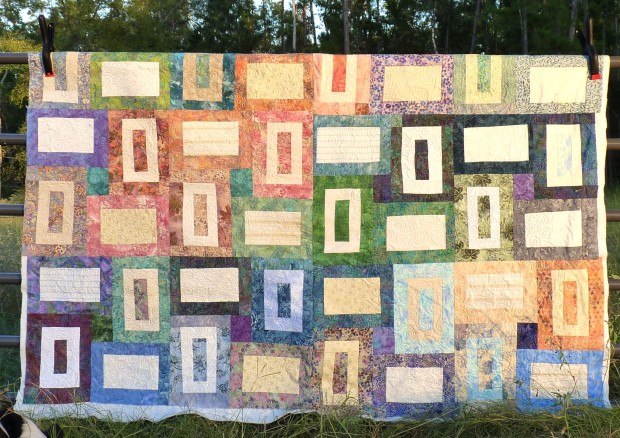 sea glass quilt on gate