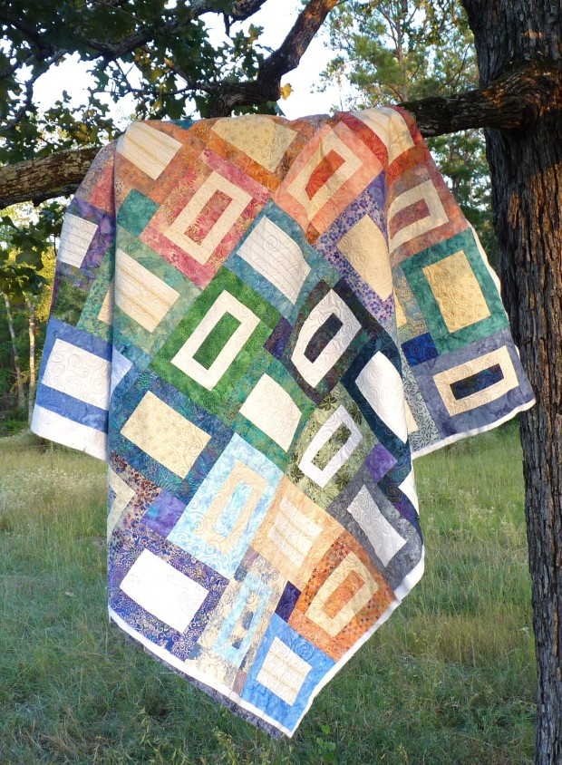 sea glass quilt on tree
