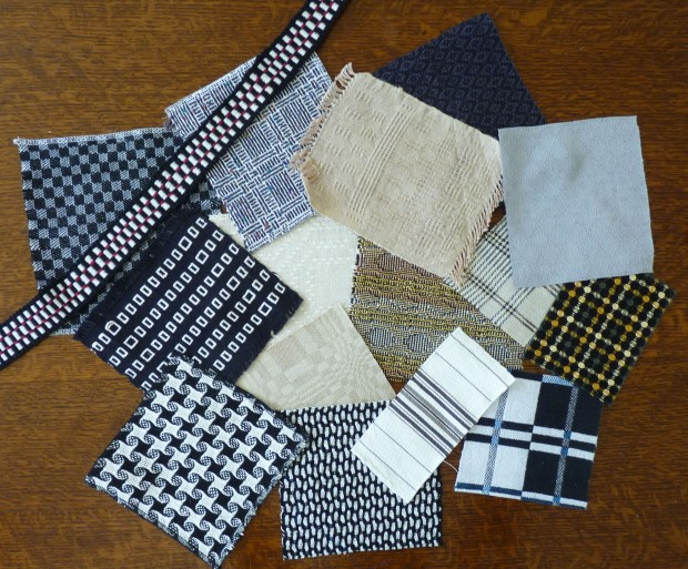 black-and-white handwoven fabrics