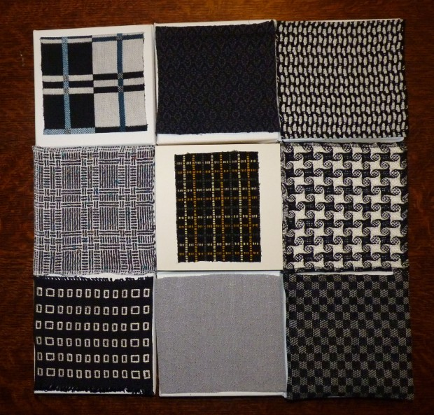 samples on canvases