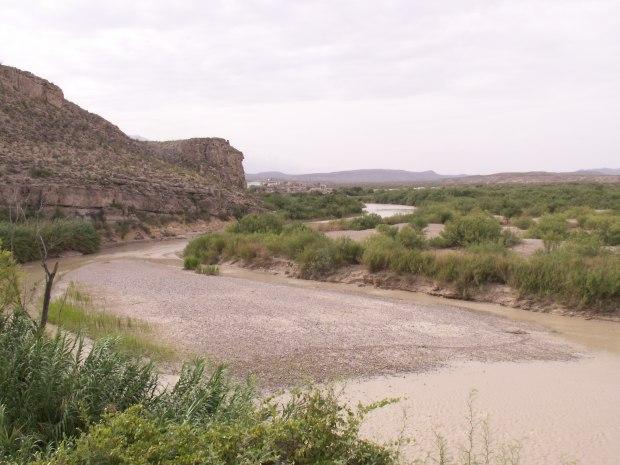 sandbar in Rio Grande