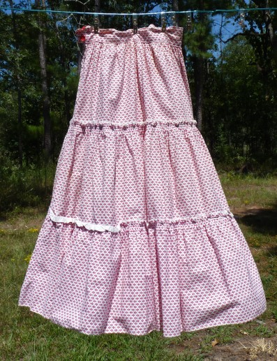 cotton skirt from the 1950s