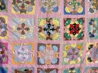 pink quilt close-up