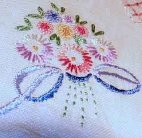 embroidered bouquet