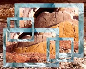 rocks and glacier