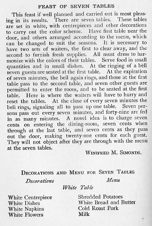 seven tables 1