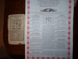 side-by-side almanacs