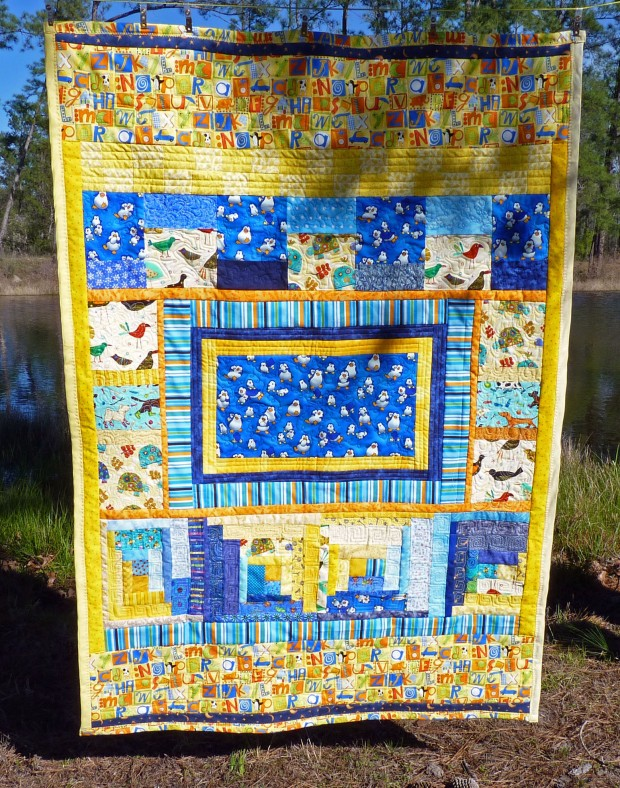 penguin crib quilt