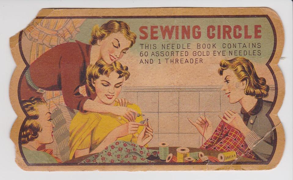 sewing circle needle book