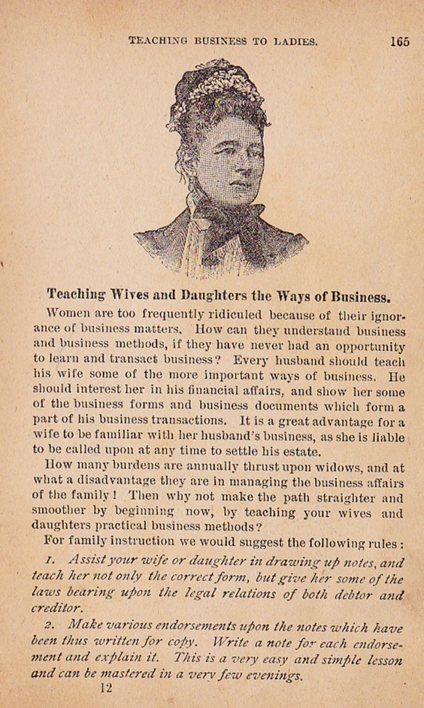 business for women 1894