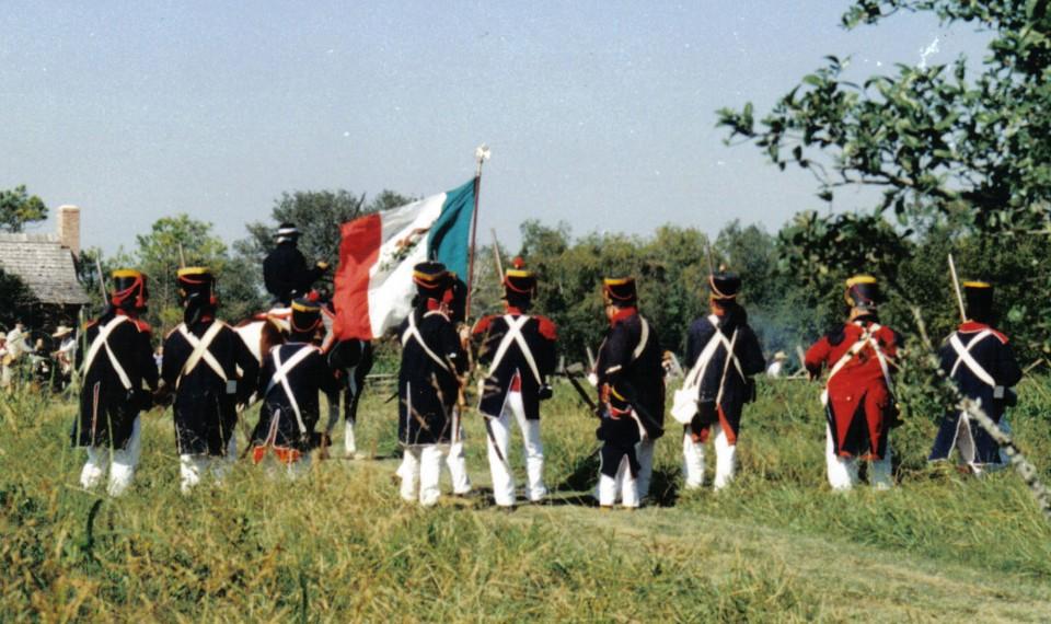 Mexican soldier re-enactors