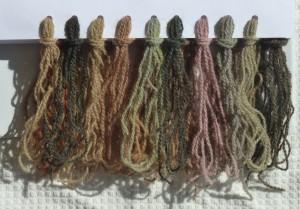 sunflower dye samples