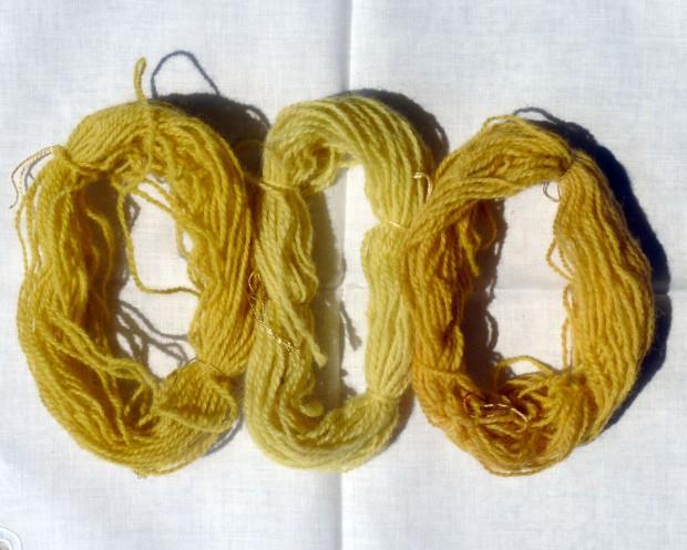 yellow dye samples