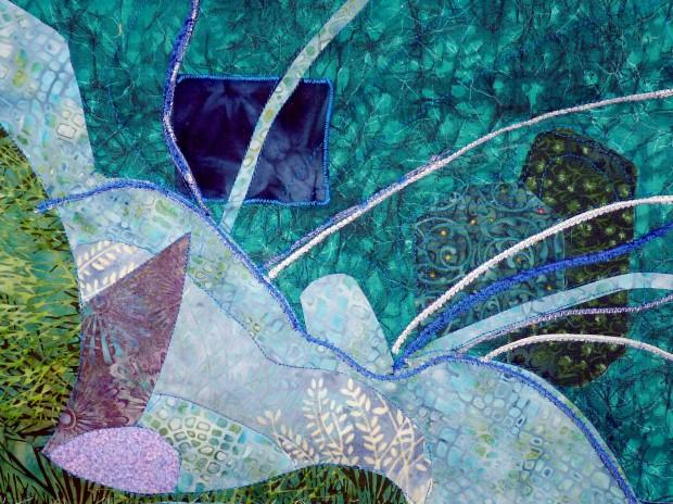 waterleaf mini-quilt