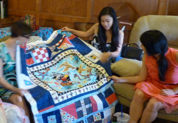 quilt at baby shower