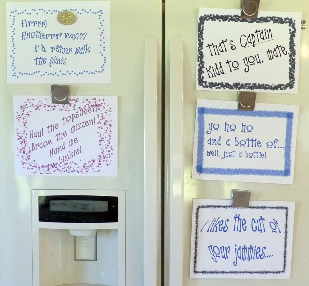 fridge signs