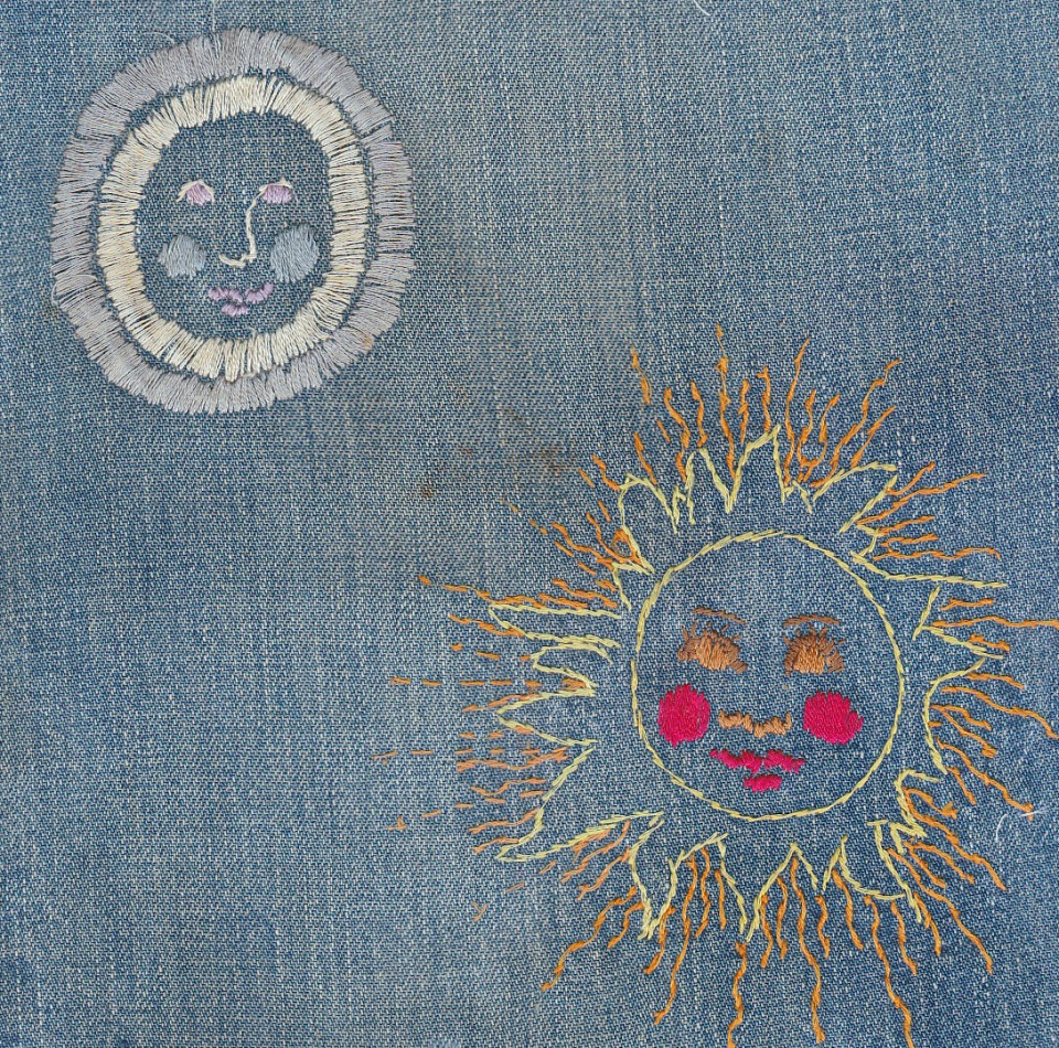 embroidery on denim