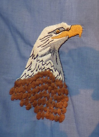 embroidered eagle