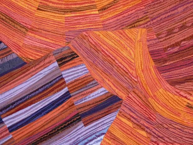 Lacy quilt detail