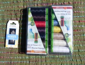 thread needles cloth