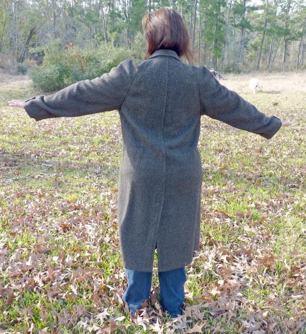 tweed coat - back